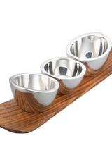 Nambe Condiment Trio Set