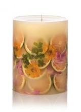 Rosy Rings Round Botanical Candle – Lemon Blossom & Lychee