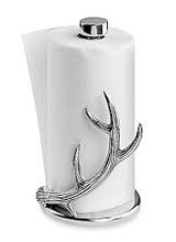 Arthur Court Designs Put flare behind your kitchen supplies with this Antler Paper Towel Holder from Arthur Court. <br /> <br /> An antler curves up the side of the paper towels as multiple points branch off its beam like an erupting flame. The handcrafted, aluminum design offers a uniqu