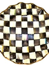 Mackenzie-Childs Courtly Check fluted dinner plate