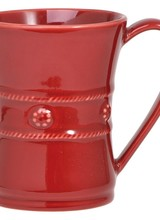 Fireside hot chocolate and warm cups of coffee on a snowy morning are a fanciful treat in our generously proportioned, Ruby red mug.