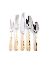 Mackenzie-Childs Gold Check Flatware - 5-Piece Place Setting