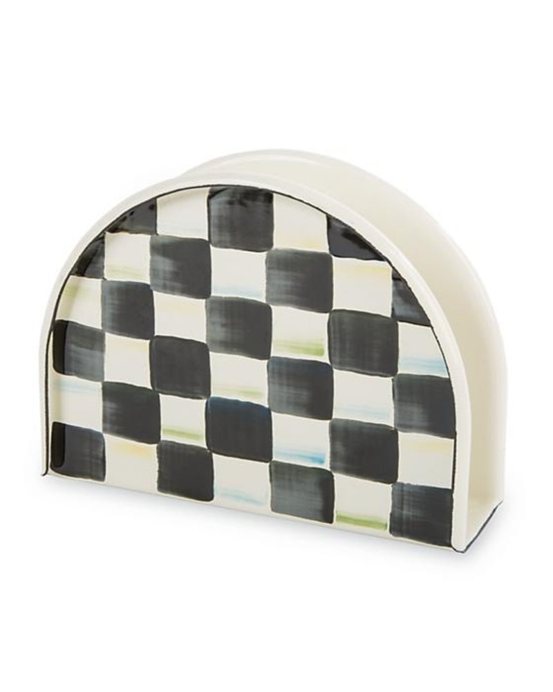 Mackenzie-Childs Courtly Check Enamel Napkin Holder