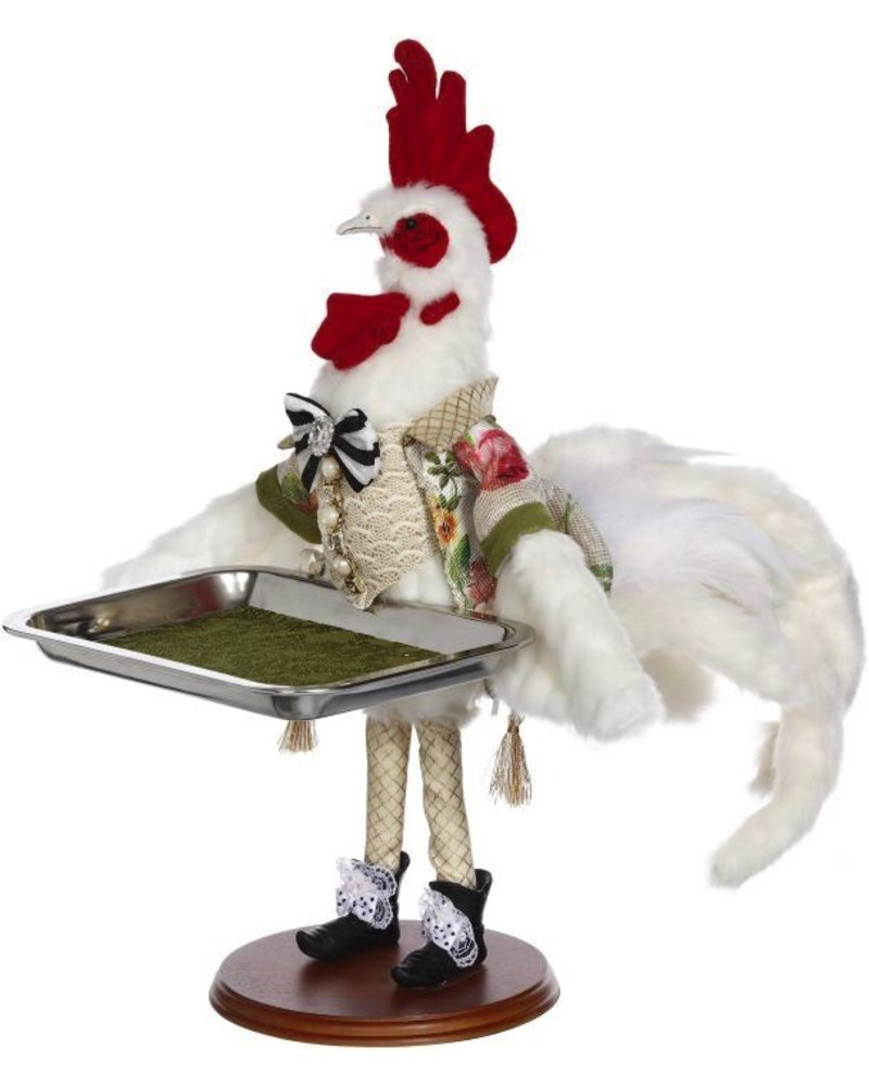 Mark Roberts Server Rooster with Tray