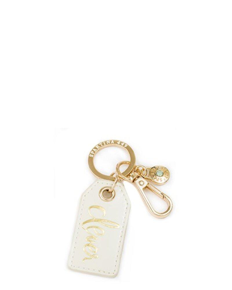 Spartina Cream Oh So Witty Keychain