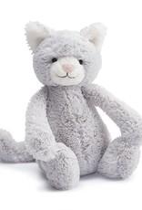 Jellycat Bashful Kitty, Grey, Med
