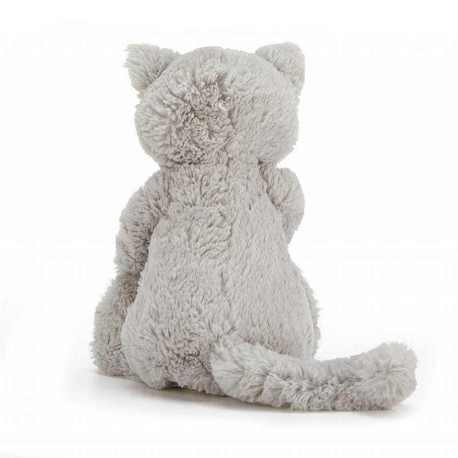 Jellycat Bashful Kitty, Grey, Med
