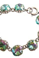 Silver Plated Bracelet, Ocean Green Crystals