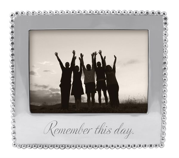 """Mariposa """"Remember This Day"""" Beaded Frame"""