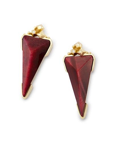 Kendra Scott Design Kendra Scott Libby Earrings in Bordeaux Tiger's Eye