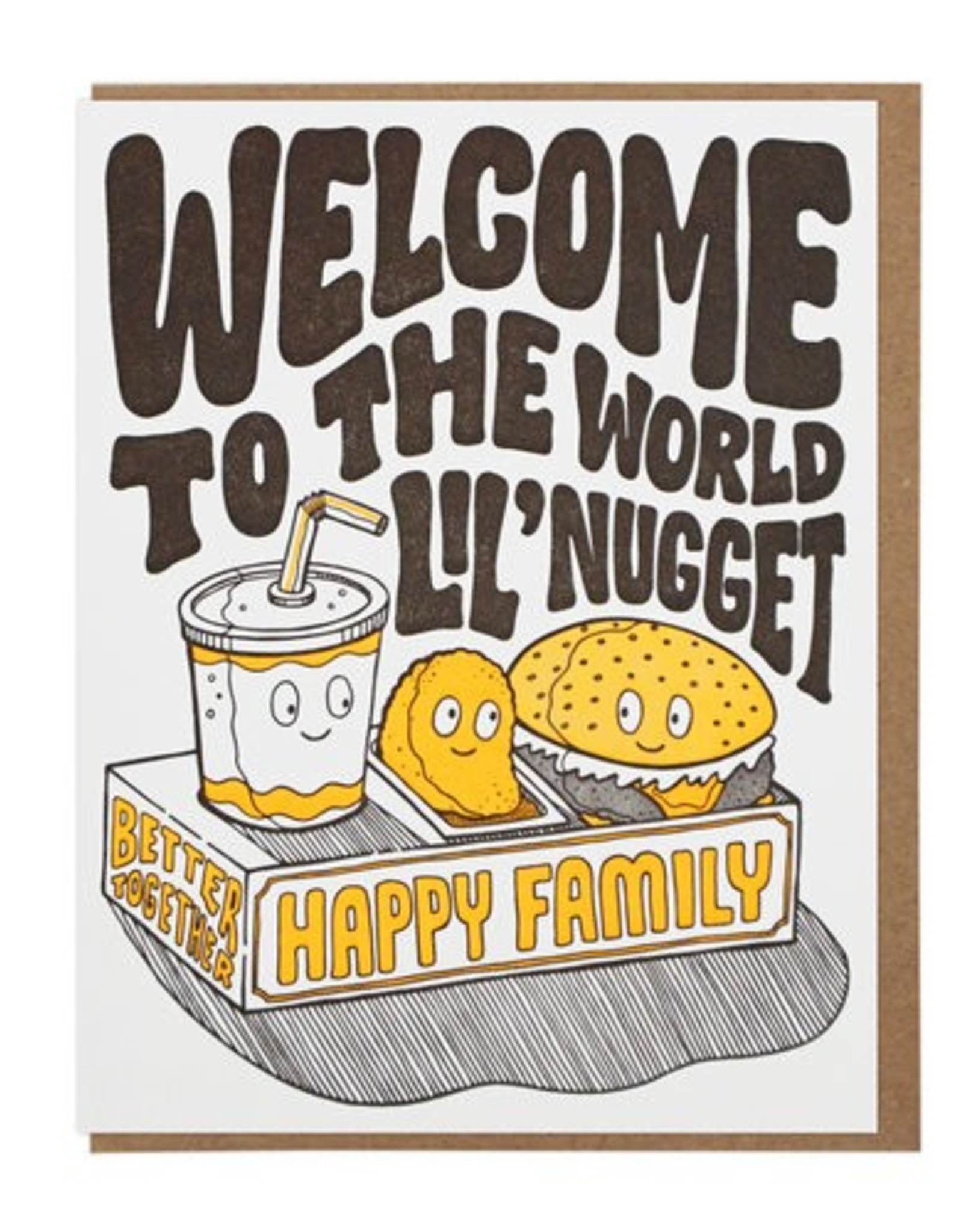 Welcome To The World Lil' Nugget Greeting Card
