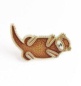 Gingiber Otter Enamel Pin