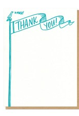 Frog & Toad Press Thank You Flag Flat Boxed Card Set of 8
