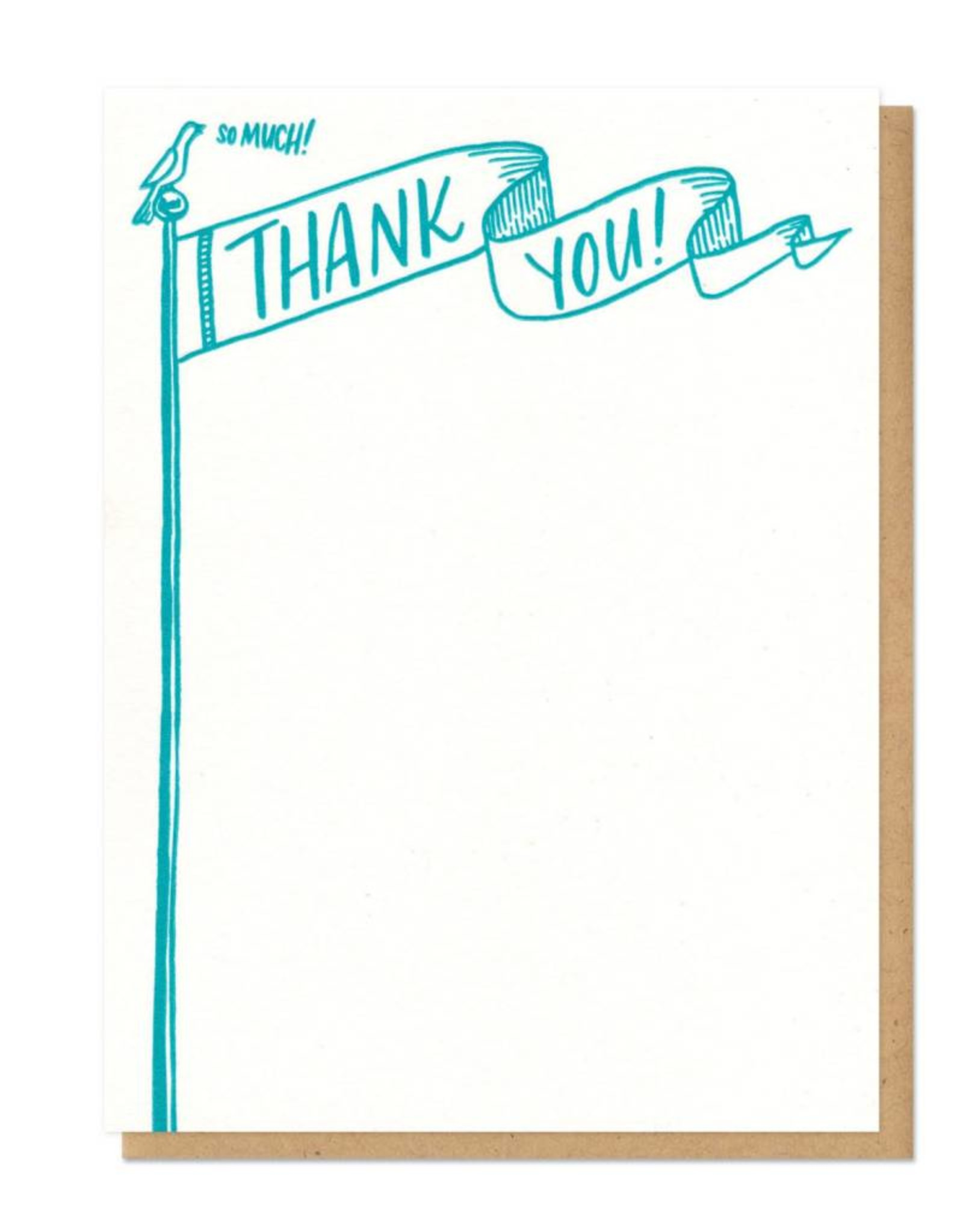 Thank You Flag Flat Boxed Card Set of 8