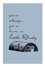 Little Rhody Quonset Hut Print