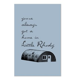 Little Rhody Quonset Hut Print