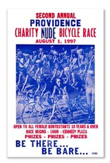 Frog & Toad Design Providence's Charity Nude Bicycle Race Print