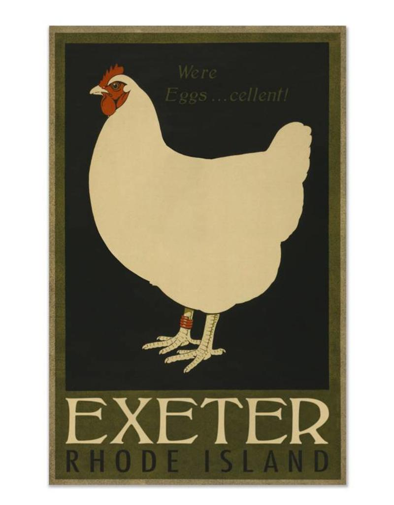 Frog & Toad Design Exeter Hen Print