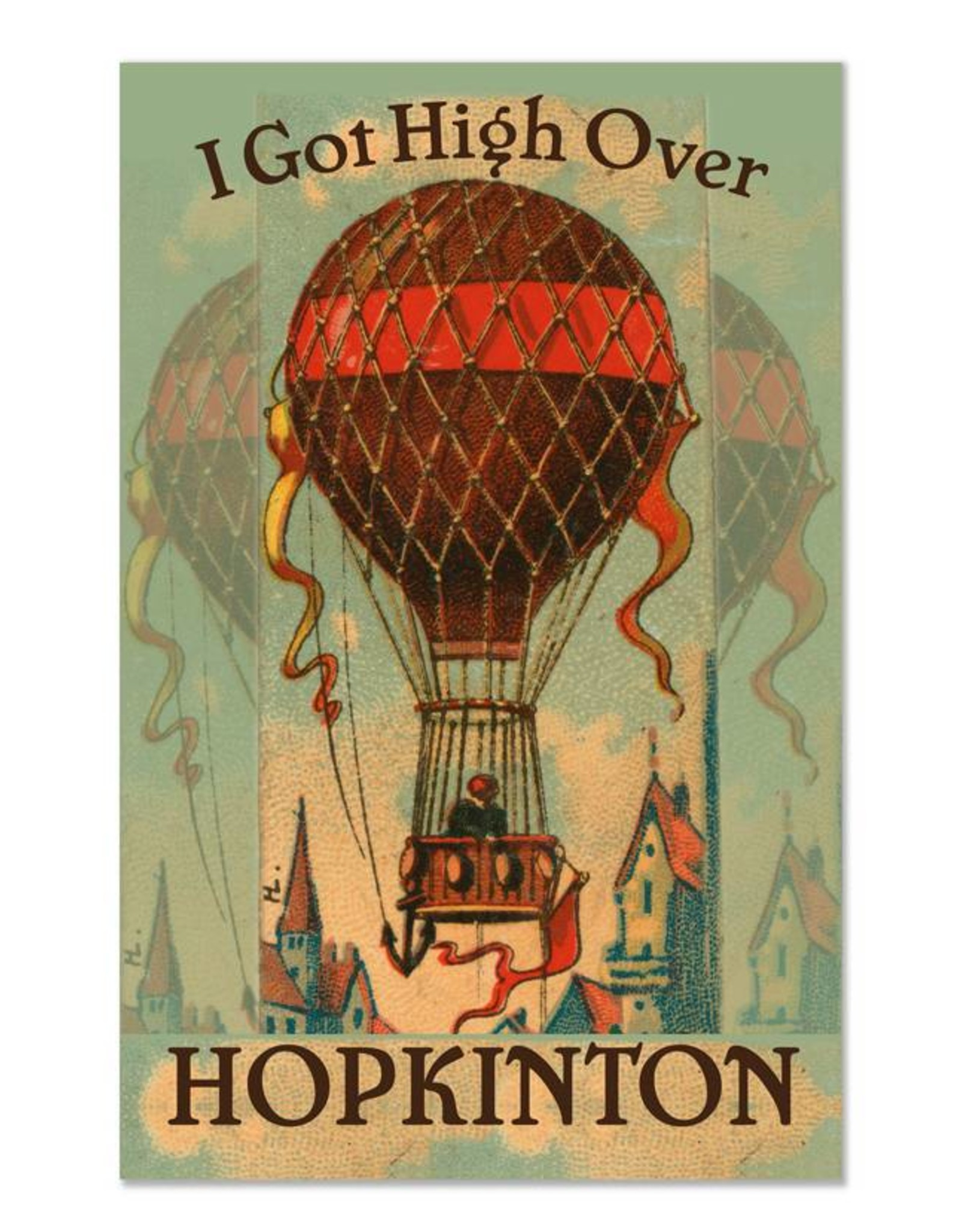 Frog & Toad Design High Over Hopkinton Print