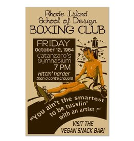 Frog & Toad Design RISD Boxing Club Print