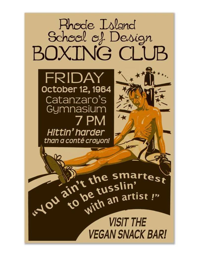 Frog & Toad Design RISD Boxing Club Print