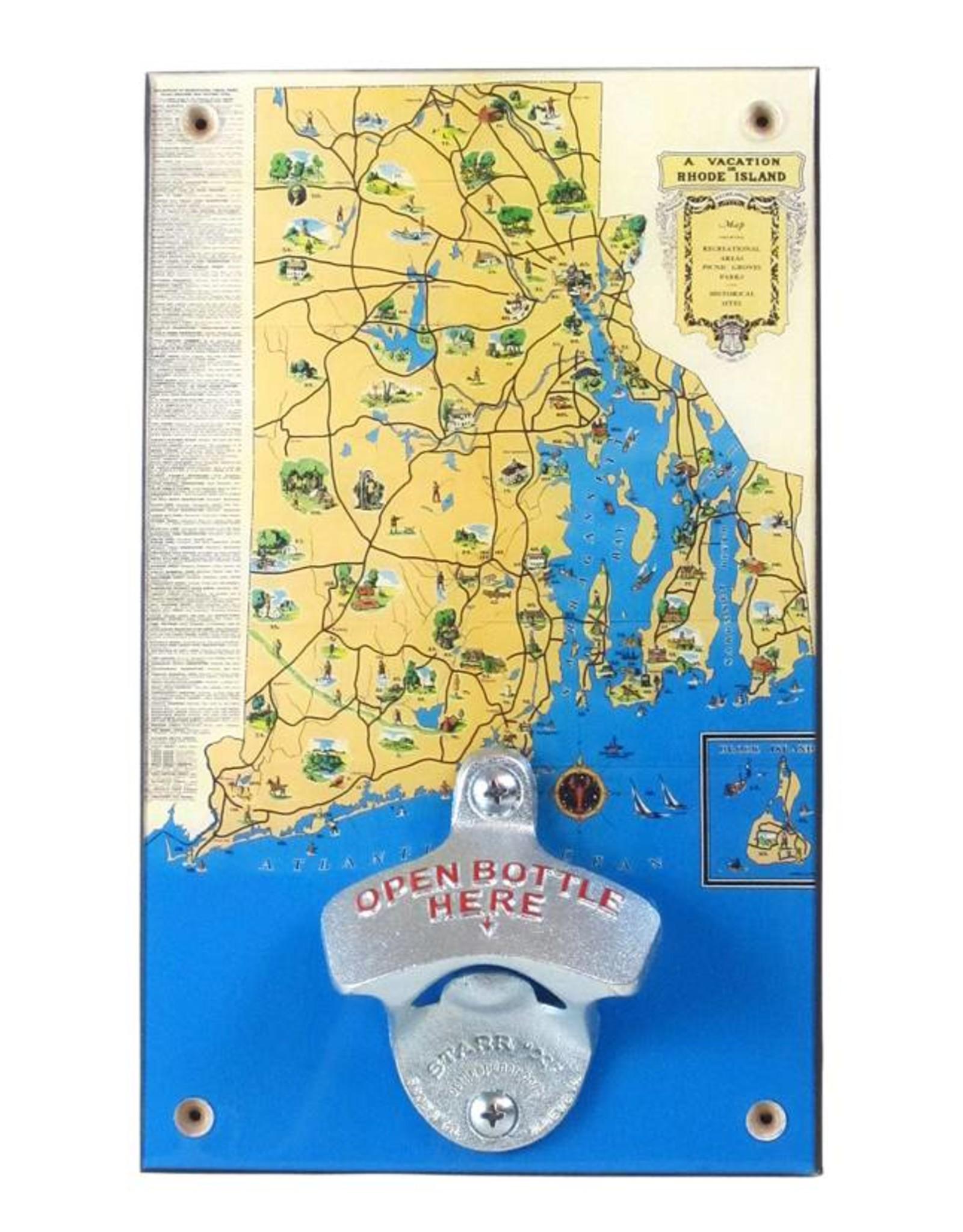 RI Vacation Map Bottle Opener