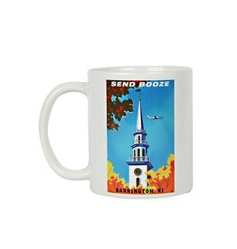 Frog & Toad Design Send Booze Barrington, RI Mug