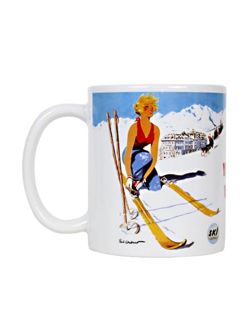 Frog & Toad Design Ski Yawgoo Mug