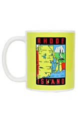 Frog & Toad Design Rhode Island Map Mug