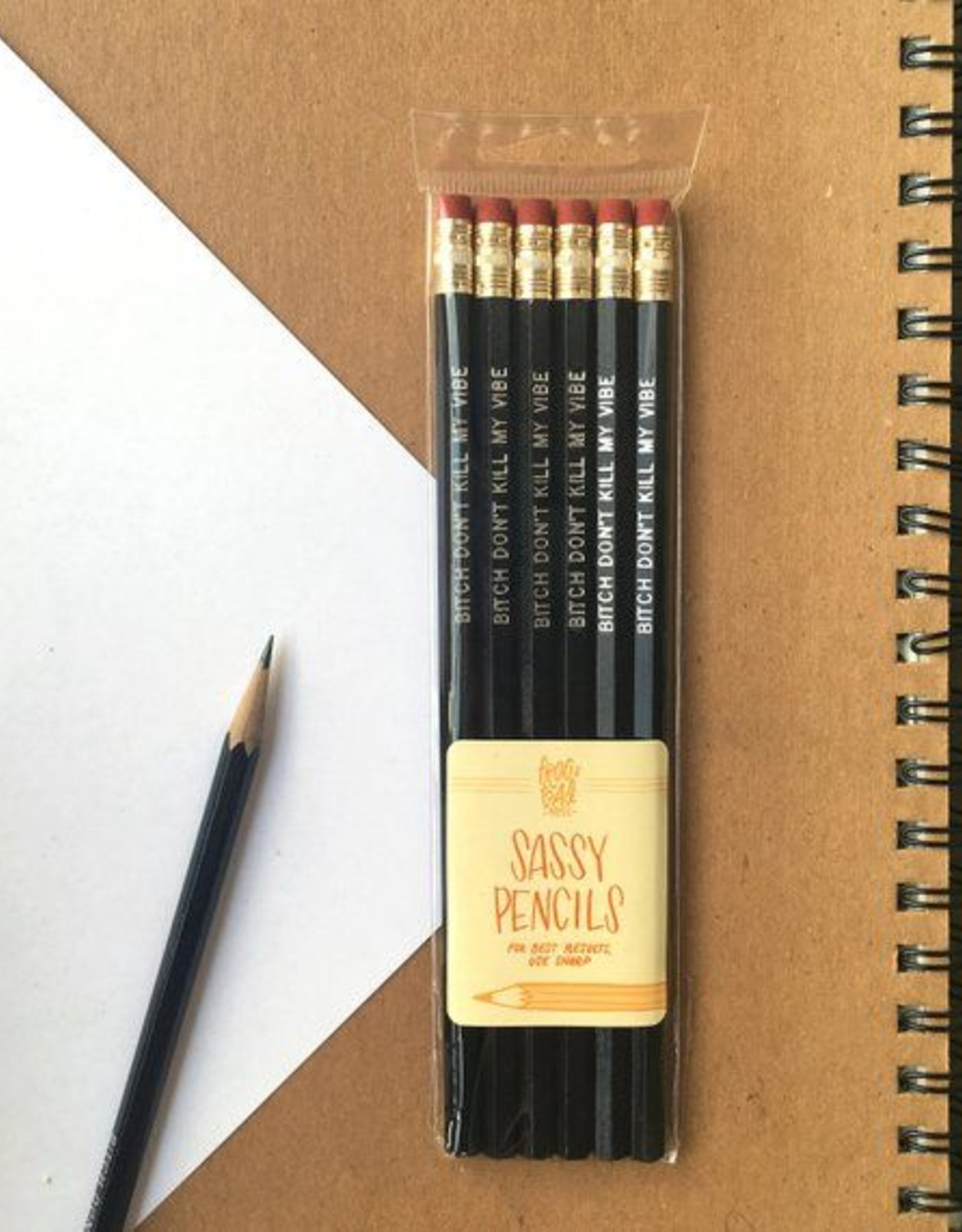 "Kendrick Lamar ""Bitch Don't Kill My Vibe"" Pencils Set of 6"