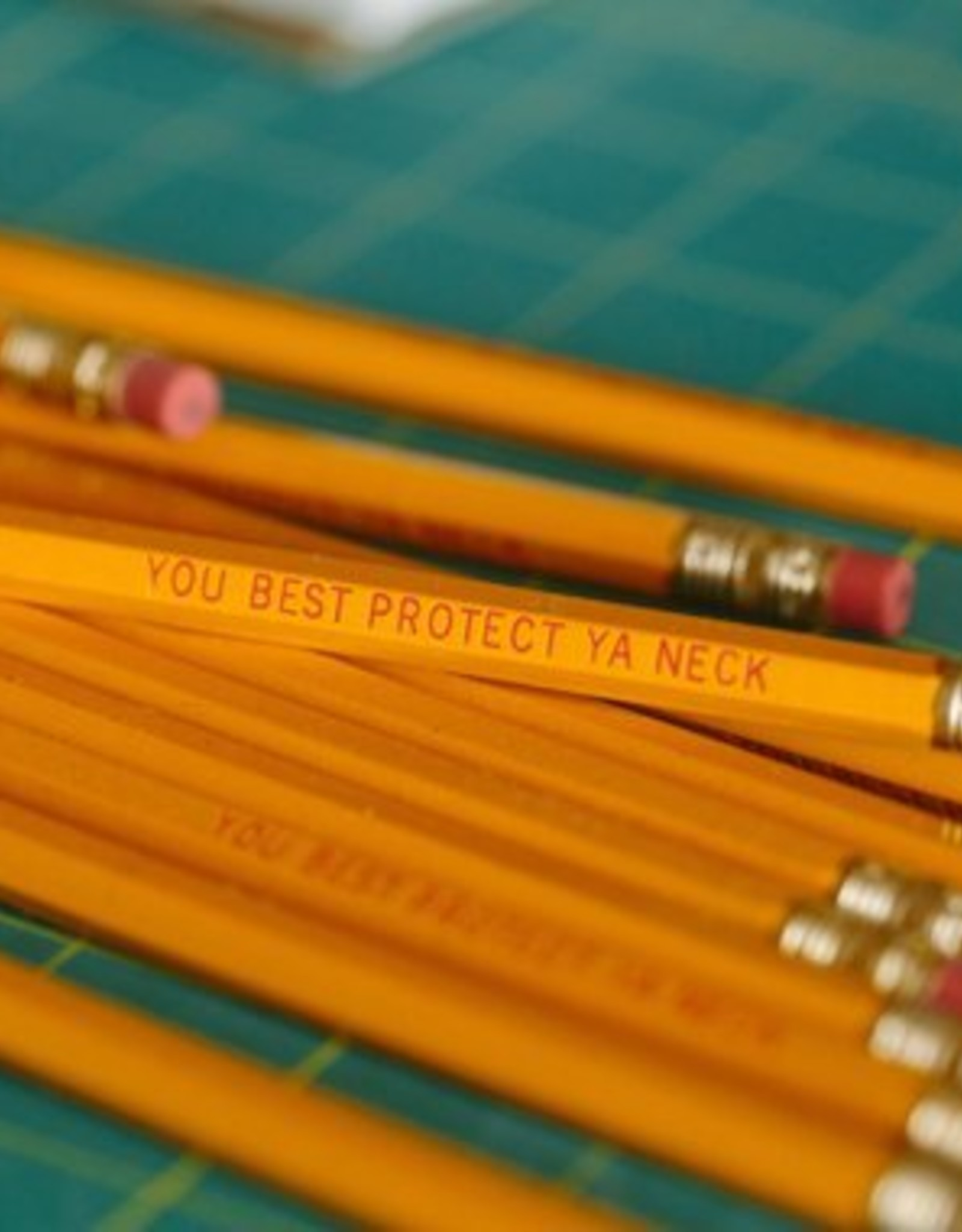 """Frog & Toad Press WuTang """"You Best Protect Ya Neck"""" Pencils Set of 6"""