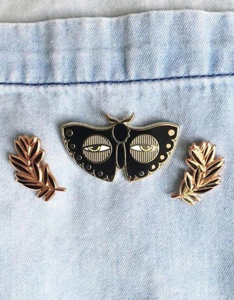Paper Shuttle Black Moth Enamel Pin