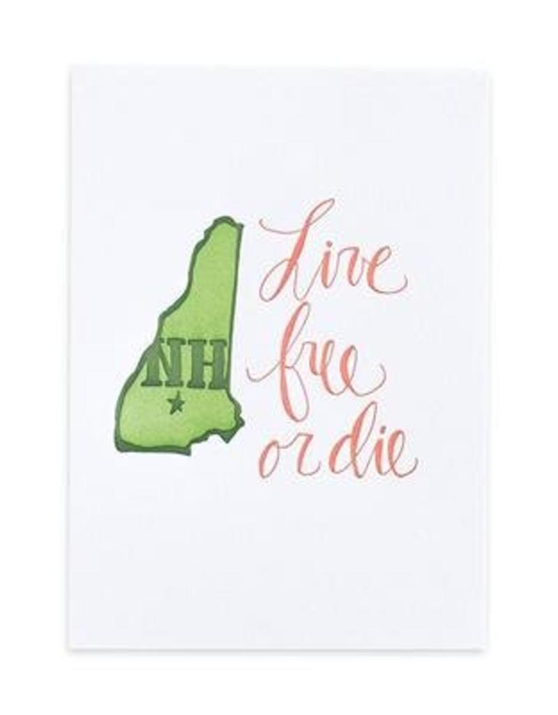 1Canoe2 Letterpress New Hampshire Letterpress Print