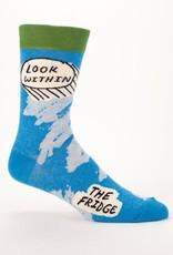 Blue Q Look Within The Fridge Men's Crew Socks