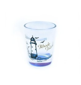 Etched RI Lighthouse Shot Glass