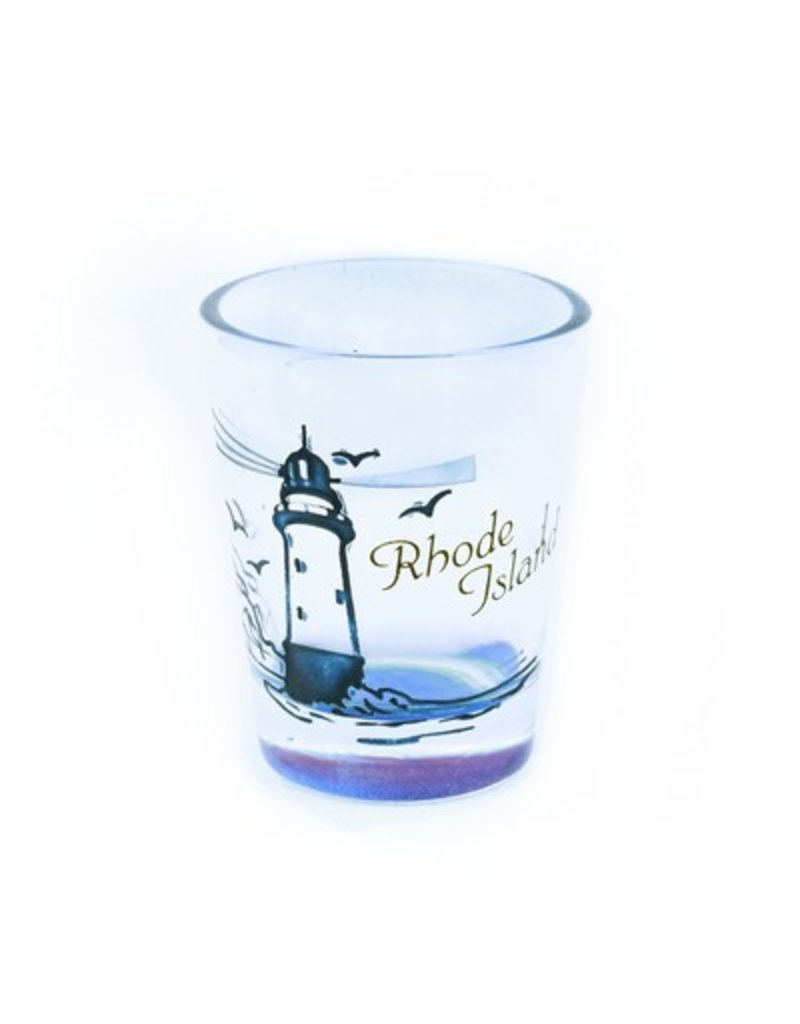 Sojourn Souvenirs Etched RI Lighthouse Shot Glass