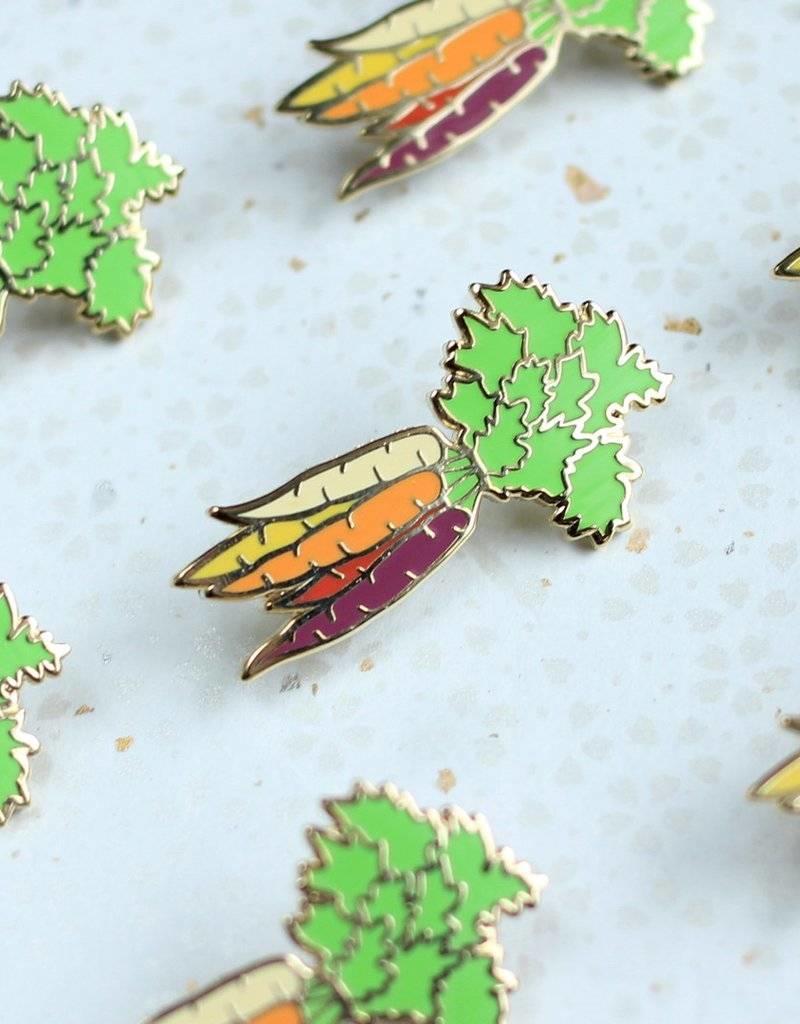 Shiny Apple Studio Rainbow Carrots Enamel Pin