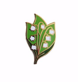 Shiny Apple Studio Lily Of The Valley Enamel Pin