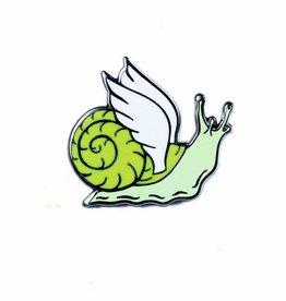 Shiny Apple Studio Winged Snail Enamel Pin