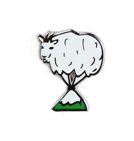 Shiny Apple Studio Mountain Goat Enamel Pin