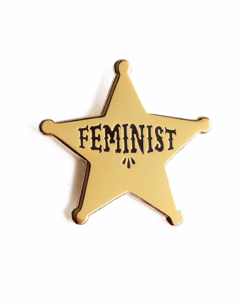 Shiny Apple Studio Feminist Star Enamel Pin