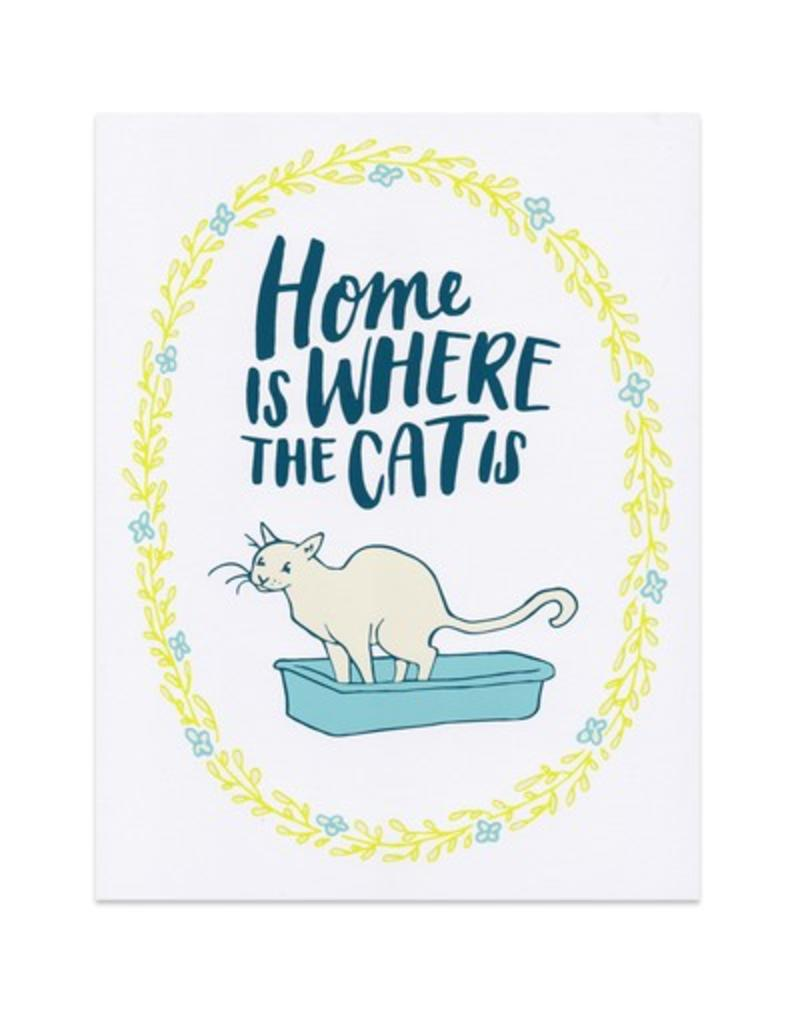 Frog & Toad Press Home Is Where The Cat Is Print