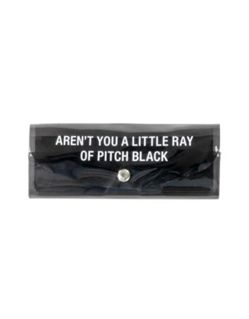 Hello World Pitch Black Sunglasses Case