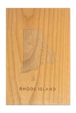 Cardtorial Rhode Island Wooden Art