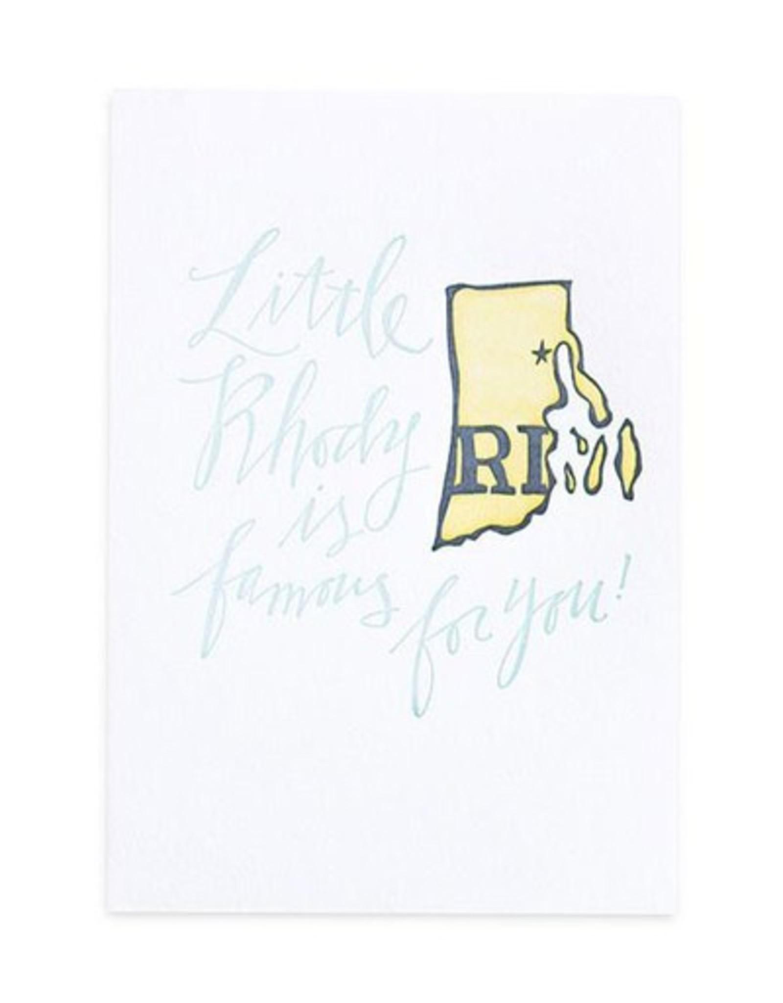 Rhode Island Letterpress Print