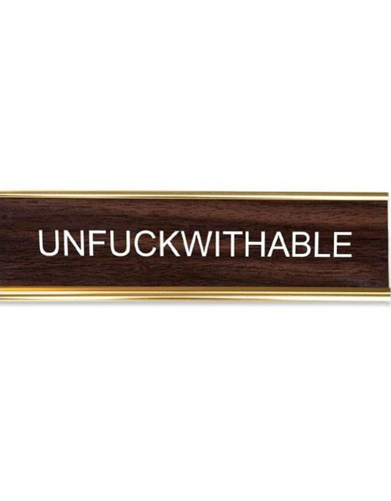 He Said, She Said Unfuckwithable Office Sign