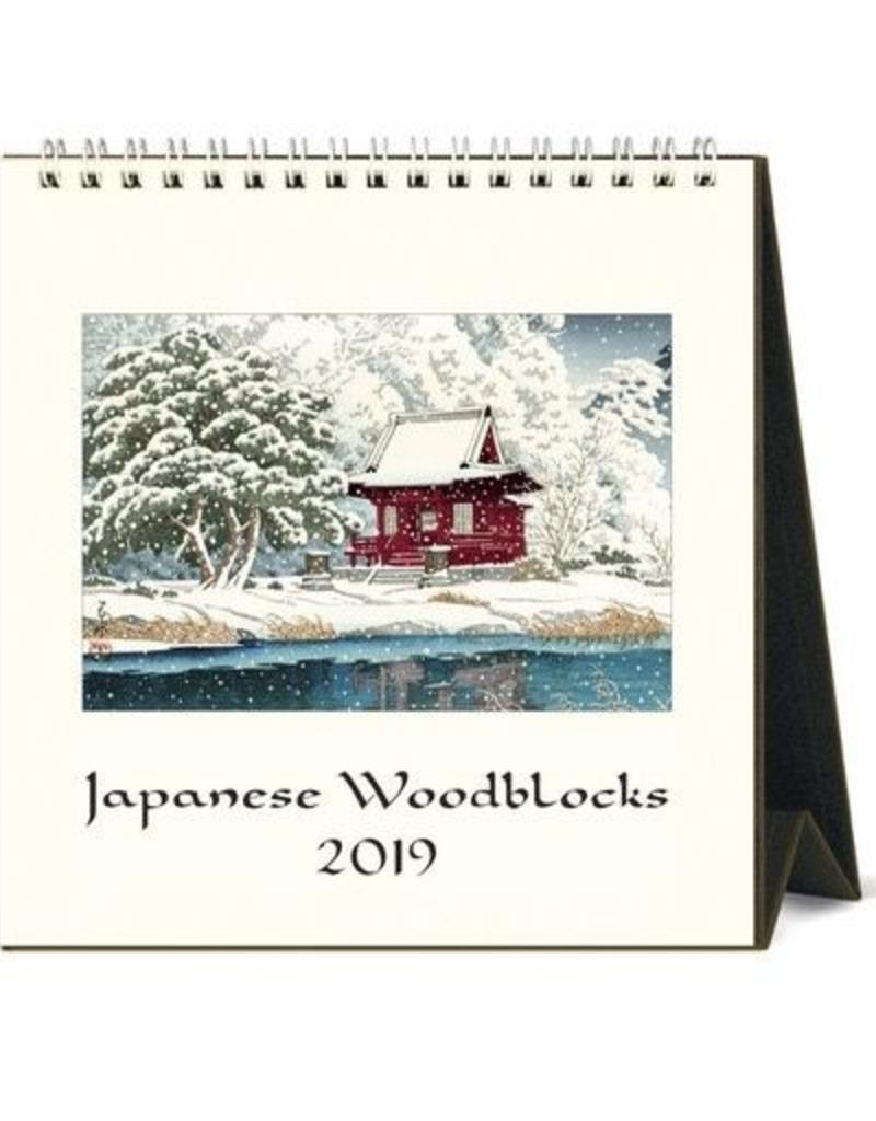 cavallini 2019 desk calendar japanese woodblock