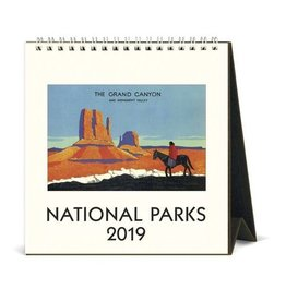 Cavallini 2019 Desk Calendar : National Parks