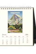 Cavallini 2019 Desk Calendar : National Parks