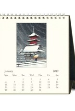 Cavallini 2019 Desk Calendar : Japanese Woodblock